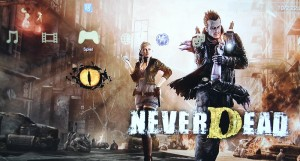 never dead playstation start screen