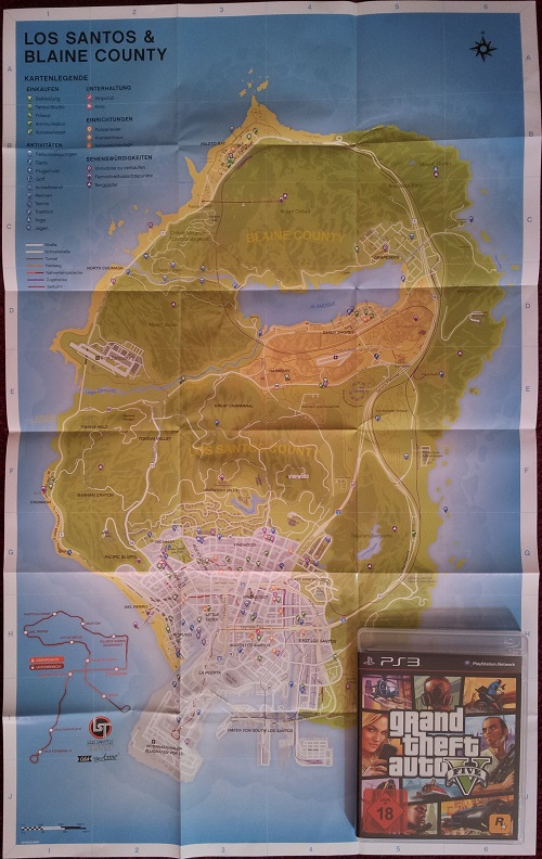 GTA 5 Spiel und Karte