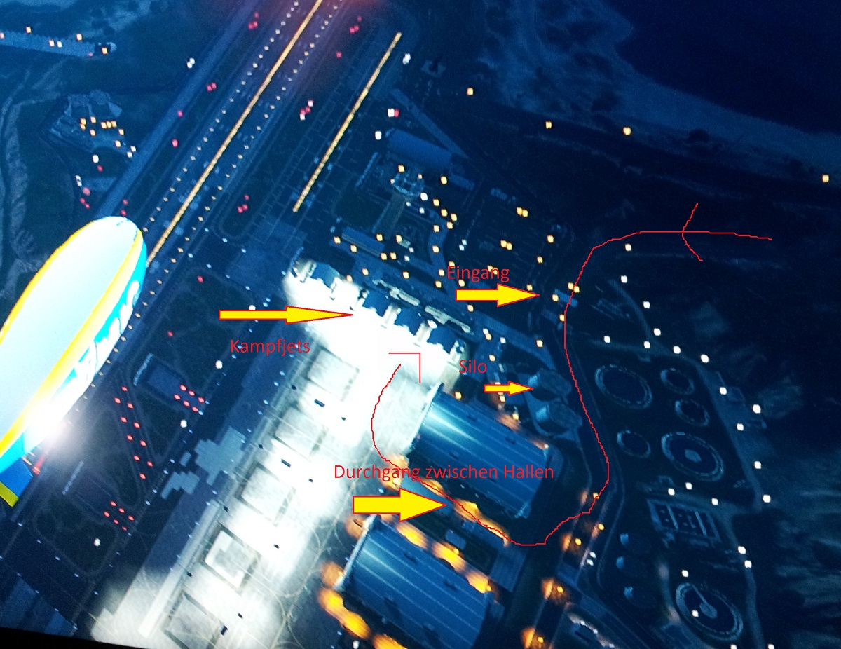 Militärflughafen Kampfjet Plan
