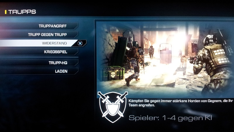 Widerstand Truppmodus Call of Duty Ghosts